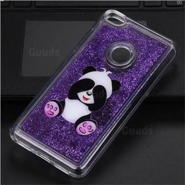 Naughty Panda Glassy Glitter Quicksand Dynamic Liquid Soft Phone Case for Huawei P8 Lite 2017 / P9 Honor 8 Nova Lite