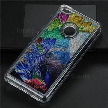 Phoenix Glassy Glitter Quicksand Dynamic Liquid Soft Phone Case for Huawei P8 Lite 2017 / P9 Honor 8 Nova Lite