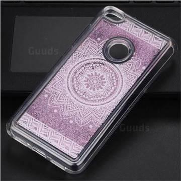 Mandala Glassy Glitter Quicksand Dynamic Liquid Soft Phone Case for Huawei P8 Lite 2017 / P9 Honor 8 Nova Lite