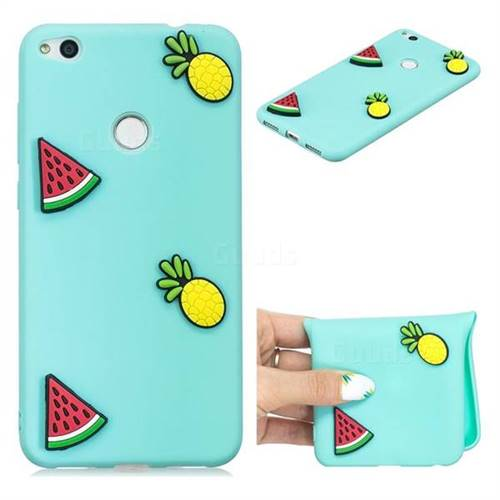Watermelon Pineapple Soft 3D Silicone Case for Huawei P8 Lite 2017 / P9 Honor 8 Nova Lite