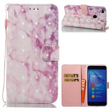 Pink Marble 3D Painted Leather Wallet Case for Huawei P8 Lite 2017 / P9 Honor 8 Nova Lite