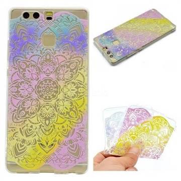 Mandala Rainbow Flower Super Clear Soft TPU Back Cover for Huawei P9