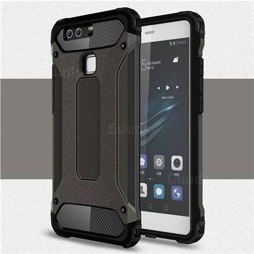 King Kong Armor Premium Shockproof Dual Layer Rugged Hard Cover for Huawei P9 - Bronze