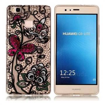 Butterfly Flowers Super Clear Soft TPU Back Cover for Huawei P9 Lite G9 Lite