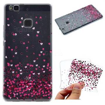 Heart Shaped Flowers Super Clear Soft TPU Back Cover for Huawei P9 Lite G9 Lite