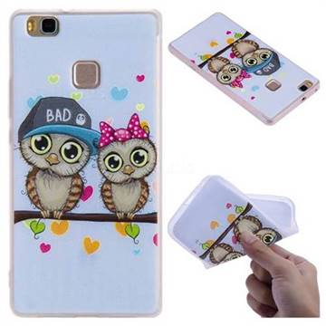 Couple Owls 3D Relief Matte Soft TPU Back Cover for Huawei P9 Lite G9 Lite