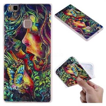 Butterfly Kiss 3D Relief Matte Soft TPU Back Cover for Huawei P9 Lite G9 Lite