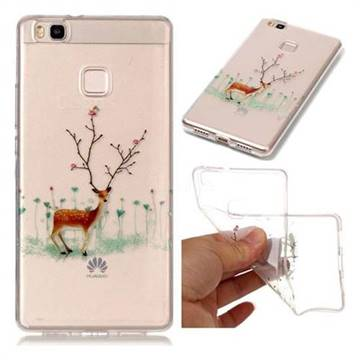 Branches Elk Super Clear Soft TPU Back Cover for Huawei P9 Lite G9 Lite
