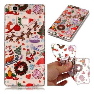 Christmas Playground Super Clear Soft TPU Back Cover for Huawei P9 Lite G9 Lite