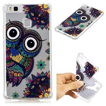 Owl Totem Anti-fall Clear Varnish Soft TPU Back Cover for Huawei P9 Lite G9 Lite