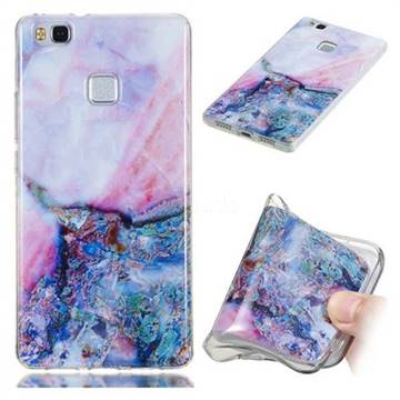 Purple Amber Soft TPU Marble Pattern Phone Case for Huawei P9 Lite G9 Lite