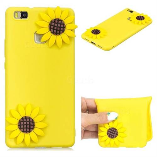 Yellow Sunflower Soft 3D Silicone Case for Huawei P9 Lite G9 Lite