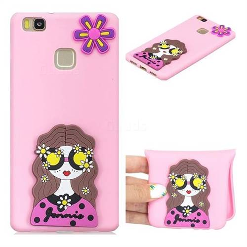 Violet Girl Soft 3D Silicone Case for Huawei P9 Lite G9 Lite