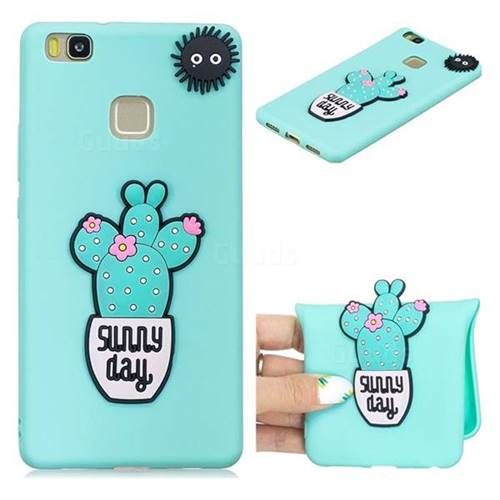 Cactus Flower Soft 3D Silicone Case for Huawei P9 Lite G9 Lite