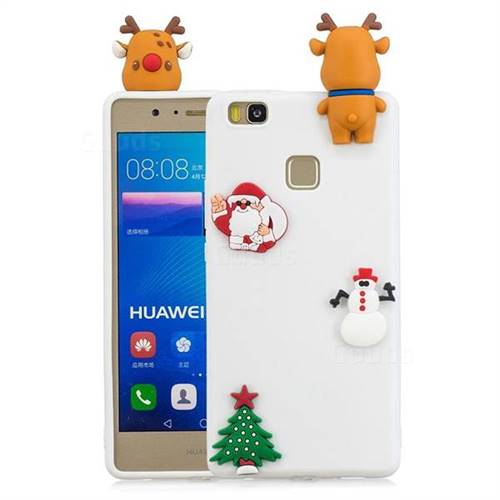 White Elk Christmas Xmax Soft 3D Silicone Case for Huawei P9 Lite G9 Lite
