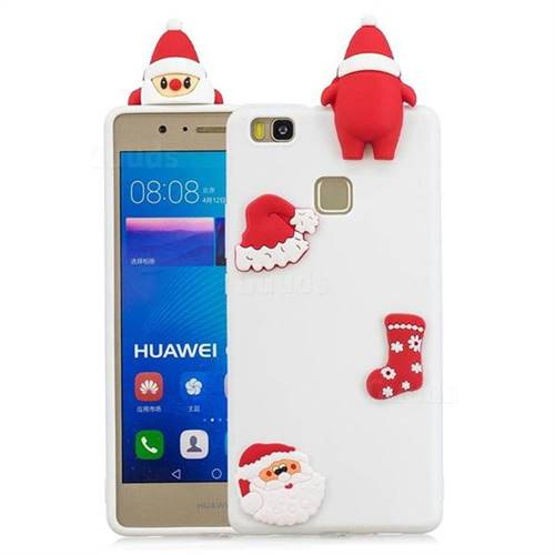 White Santa Claus Christmas Xmax Soft 3D Silicone Case for Huawei P9 Lite G9 Lite
