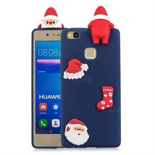 Navy Santa Claus Christmas Xmax Soft 3D Silicone Case for Huawei P9 Lite G9 Lite