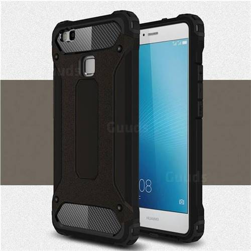 King Kong Armor Premium Shockproof Dual Layer Rugged Hard Cover for Huawei P9 Lite G9 Lite - Black Gold