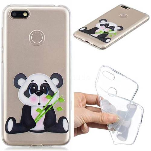 Bamboo Panda Clear Varnish Soft Phone Back Cover for Huawei P9 Lite Mini (Y6 Pro 2017)