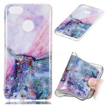 Purple Amber Soft TPU Marble Pattern Phone Case for Huawei P9 Lite Mini (Y6 Pro 2017)