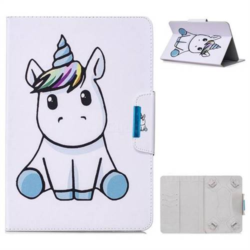 8 inch Universal Tablet Flip Cover Folio Stand Leather Wallet Tablet Case - Unicorn Kid
