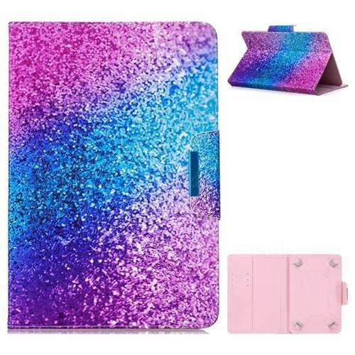 8 inch Universal Tablet Flip Cover Folio Stand Leather Wallet Tablet Case - Rainbow Sand