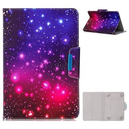 10 Inch Universal Tablet Flip Cover Folio Stand Leather Wallet Tablet Case - Fantasy Starry Sky