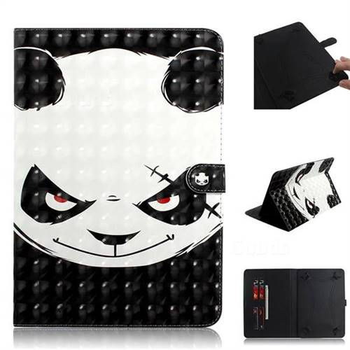 Angry Bear 3D Painted Universal 10 inch Tablet Flip Folio Stand Leather Wallet Tablet Case Cover