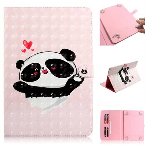 Heart Cat 3D Painted Universal 10 inch Tablet Flip Folio Stand Leather Wallet Tablet Case Cover