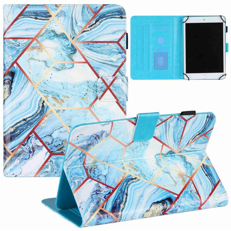 7 inch Universal Tablet Cover Lake Blue Stitching Color Marble Leather Flip Cover