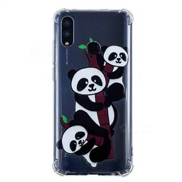 Three Pandas Anti-fall Clear Varnish Soft TPU Back Cover for Huawei P Smart (2019)
