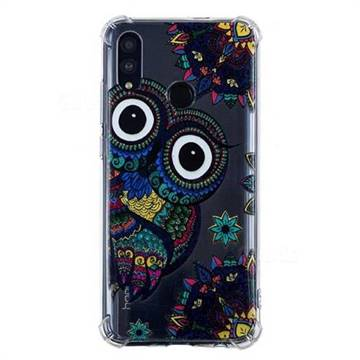 Owl Totem Anti-fall Clear Varnish Soft TPU Back Cover for Huawei P Smart (2019)
