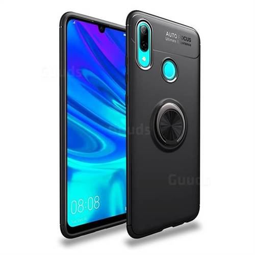 Auto Focus Invisible Ring Holder Soft Phone Case for Huawei P Smart (2019) - Black