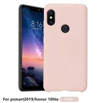 Howmak Slim Liquid Silicone Rubber Shockproof Phone Case Cover for Huawei P Smart (2019) - Pink