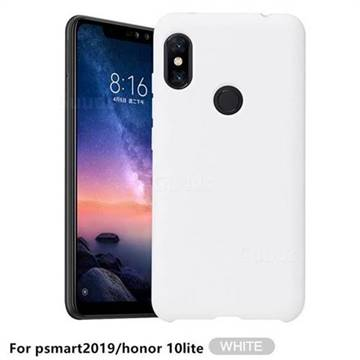 Howmak Slim Liquid Silicone Rubber Shockproof Phone Case Cover for Huawei P Smart (2019) - White