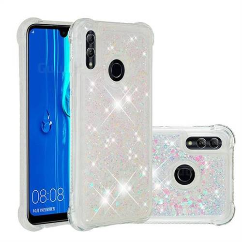 Dynamic Liquid Glitter Sand Quicksand Star TPU Case for Huawei P Smart (2019) - Pink