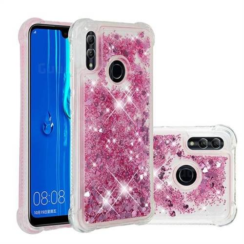 Dynamic Liquid Glitter Sand Quicksand Star TPU Case for Huawei P Smart (2019) - Diamond Rose