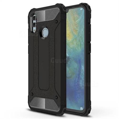 King Kong Armor Premium Shockproof Dual Layer Rugged Hard Cover for Huawei P Smart (2019) - Black Gold