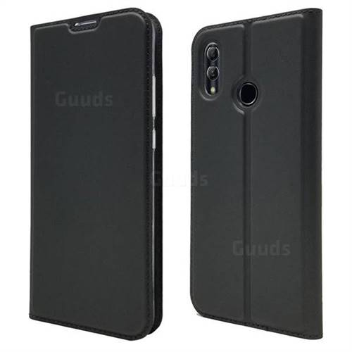 Ultra Slim Card Magnetic Automatic Suction Leather Wallet Case for Huawei P Smart (2019) - Star Grey