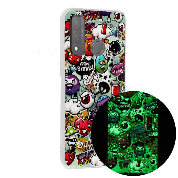 Trash Noctilucent Soft TPU Back Cover for Huawei P Smart (2020)