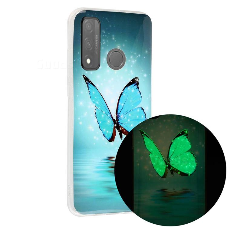 Butterfly Noctilucent Soft TPU Back Cover for Huawei P Smart (2020)