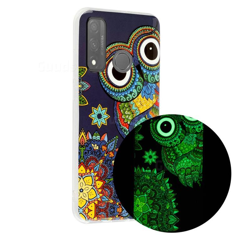 Tribe Owl Noctilucent Soft TPU Back Cover for Huawei P Smart (2020)