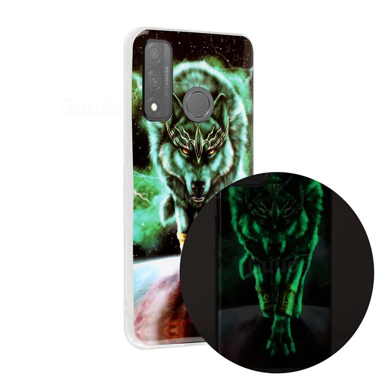 Wolf King Noctilucent Soft TPU Back Cover for Huawei P Smart (2020)