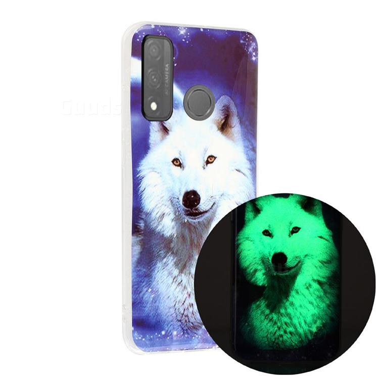 Galaxy Wolf Noctilucent Soft TPU Back Cover for Huawei P Smart (2020)