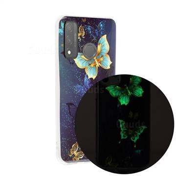 Golden Butterflies Noctilucent Soft TPU Back Cover for Huawei P Smart (2020)