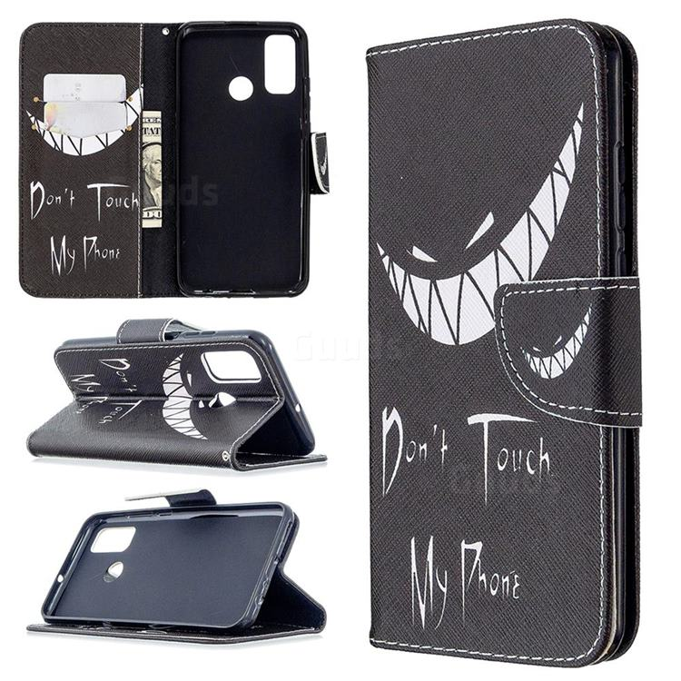 Crooked Grin Leather Wallet Case for Huawei P Smart (2020)