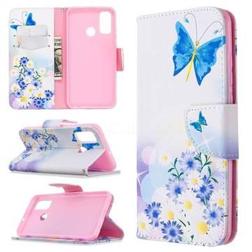 Butterflies Flowers Leather Wallet Case for Huawei P Smart (2020)