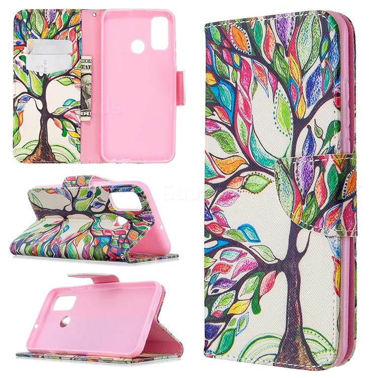 The Tree of Life Leather Wallet Case for Huawei P Smart (2020)