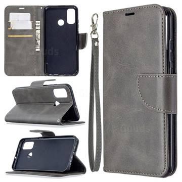 Classic Sheepskin PU Leather Phone Wallet Case for Huawei P Smart (2020) - Gray