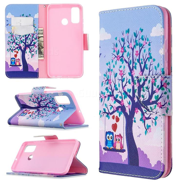 Tree and Owls Leather Wallet Case for Huawei P Smart (2020)